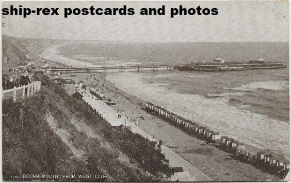 Bournemouth, from West Cliff, postcard